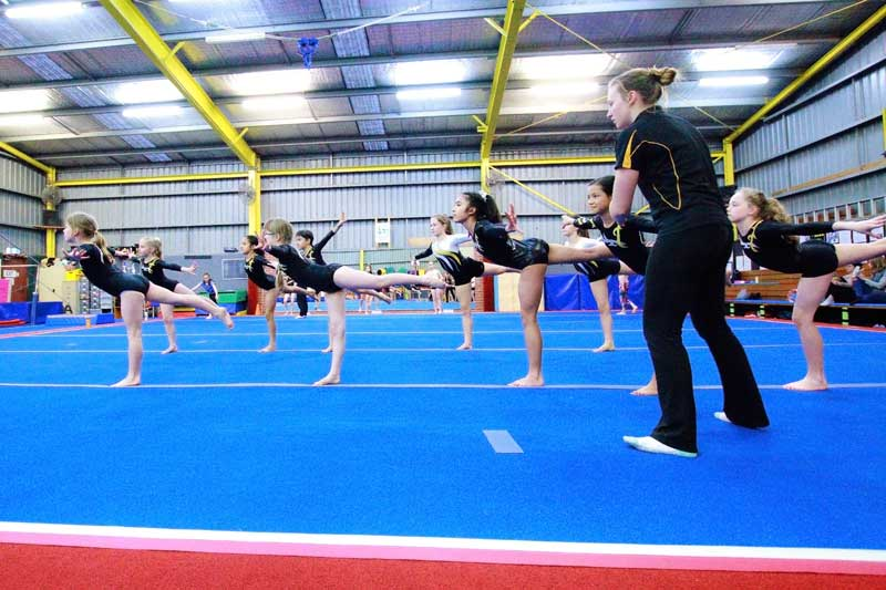 Women's Artistic Gymnastics Lesson in action