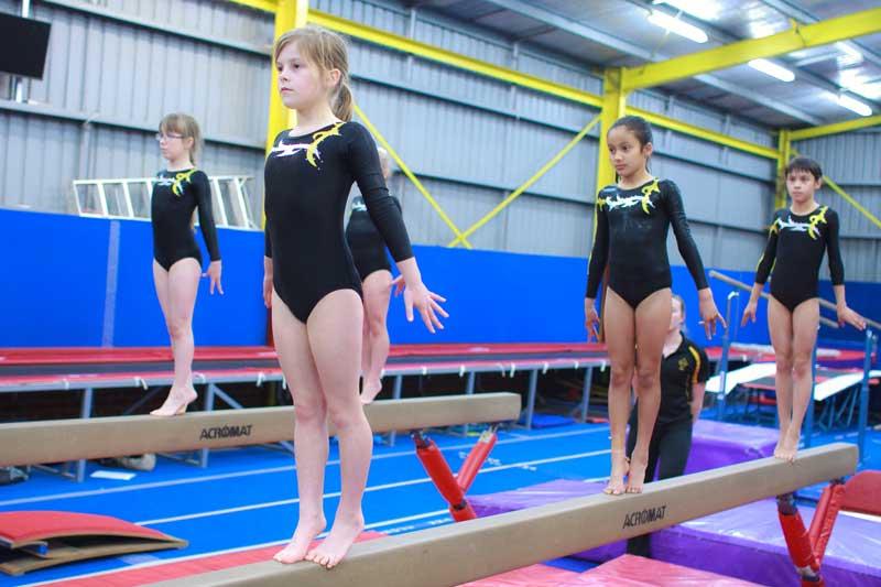 Women's Artistic Gymnastics On balance beams